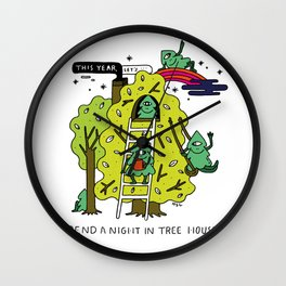 New Years Resolution Wall Clock