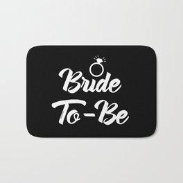 Baesic Bride-To-Be (Black & White) Bath Mat