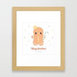 Kawaii Gingerbread Framed Art Print