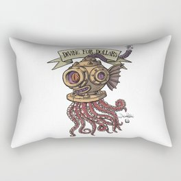 Octopus Diver Rectangular Pillow