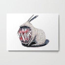 Murderous Rabbit Metal Print