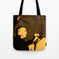 michael myers Tote Bags featuring Michael Myers * Halloween * Vintage Horror Movie Inspiration by Freak Shop | Freak Products