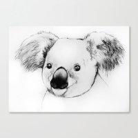koala Canvas Prints featuring koala by Кaterina Кalinich