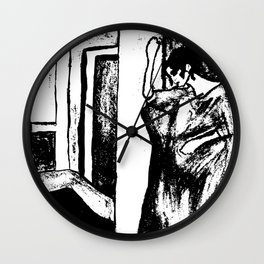 Mysterious woman Wall Clock