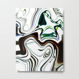 Marbleized Metal Print