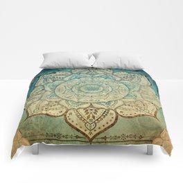Faded Bohemian Mandala Comforters