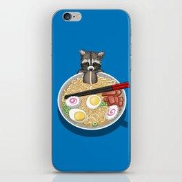Raccoon Ramen iPhone Skin