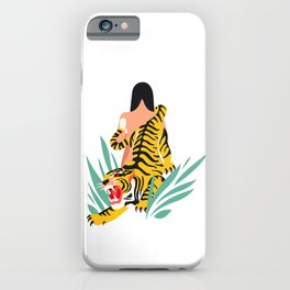 Waking the tiger iPhone Case