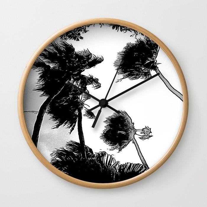 Palmiers - Palmetto Wall Clock