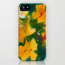 Blooming yelllows iPhone Case