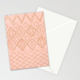 Beni Moroccan Print in Peach Stationery Cards