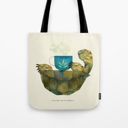 wise tortoise Tote Bag