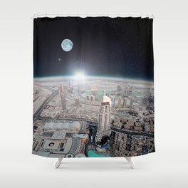 Tranquility Base Hotel & Casino Shower Curtain