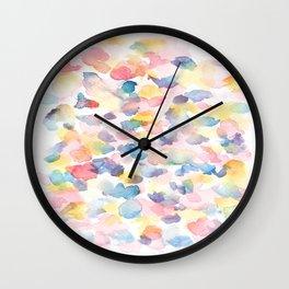 150725 My Happy Bubbles 21 Wall Clock