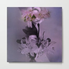 The girl who wanted to be a flower Metal Print