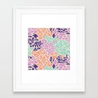 leopard Framed Art Prints featuring Leopard by moniquilla