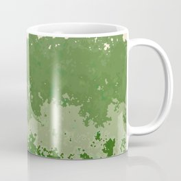 Tones of Green Abstract Lines Coffee Mug