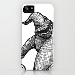 Oogie Boogie Ink Drawing iPhone Case