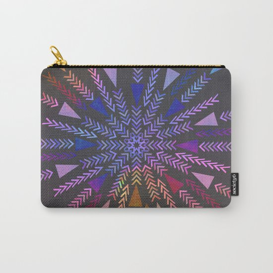 Multicolored geometric firework Carry-All Pouch