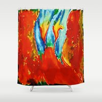 gemini Shower Curtains featuring Gemini by SteeleCat