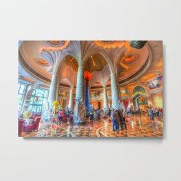 Atlantis Palm Dubai Hotel Lobby Metal Print