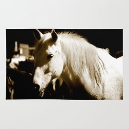 White Horse-Sepia Rug