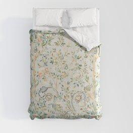 William Morris Vintage Melsetter Grey Silver Blue Pastel Floral  Comforters