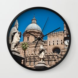CATHEDRAL of PALERMO in SICILY Wall Clock