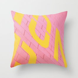 Street Colors Throw Pillow