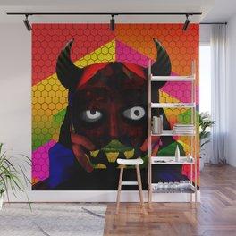 Hexagon Devil Wall Mural