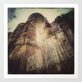 Silo architecture Montreal Art Print