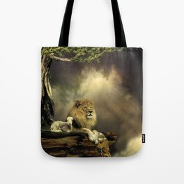 The Lion & the Lamb Tote Bag