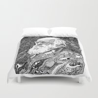 darwin Duvet Covers featuring 'Darwin' by Sarah King by We Are West Coast