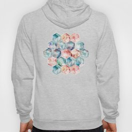 Earth and Sky Hexagon Watercolor Hoody