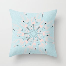 dancing with swans Throw Pillow