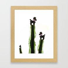 Poodle cacti Framed Art Print
