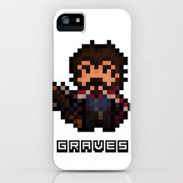 Graves, The Pixel Gunslinger iPhone Case