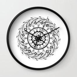 Quill Mandala Wall Clock