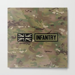 British Flag: Infantry (Camo) Metal Print