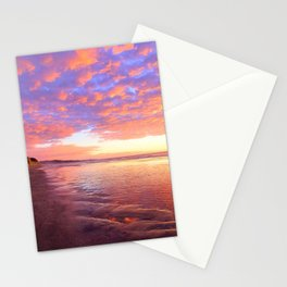 Life's a Beach, A Pink Beach by Reay of Light Photography Stationery Cards