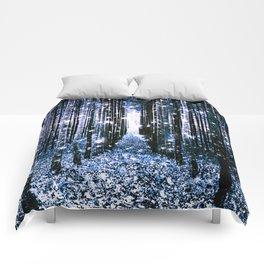 Magical Forest Dark Blue Elegance Comforters