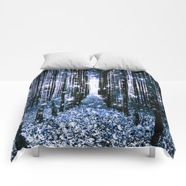 Magical Forest Dark Blue Elegance Comforters