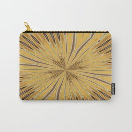 Yellow and Ochre Flower Pattern Abstract 2 Carry-All Pouch