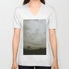 Dawn in the countryside Unisex V-Neck