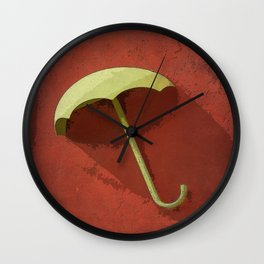 Paper Umbrella Wall Clock