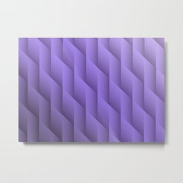 Gradient Purple Diamonds Geometric Shapes Metal Print