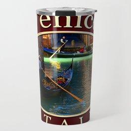 Gondoliers On A Venetian Canal Travel Mug