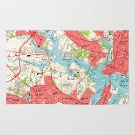 Vintage Map of Salem Massachusetts (1956) Rug