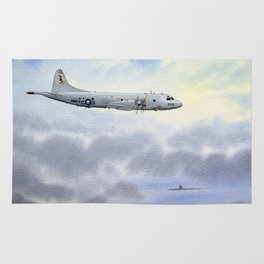 P-3 Orion Aircraft Rug