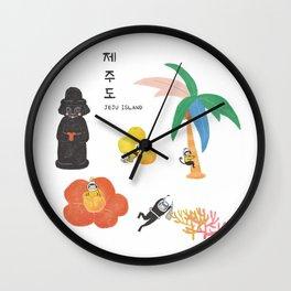 Love JEJU Wall Clock